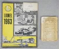 LIONEL 1963 ADVANCE CATALOG