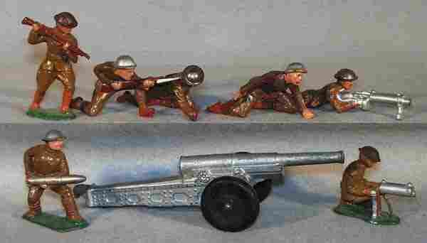 002: 7 DIMESTORE SOLDIERS & CANNON