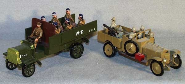 006: 2 TOMMY ATKINS WWI ALLIED VEHICLES
