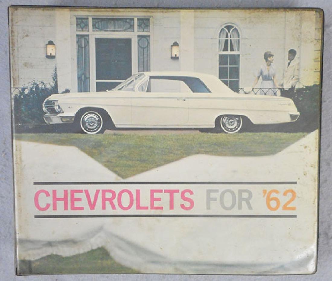 1962 CHEVROLET DEALER BOOK