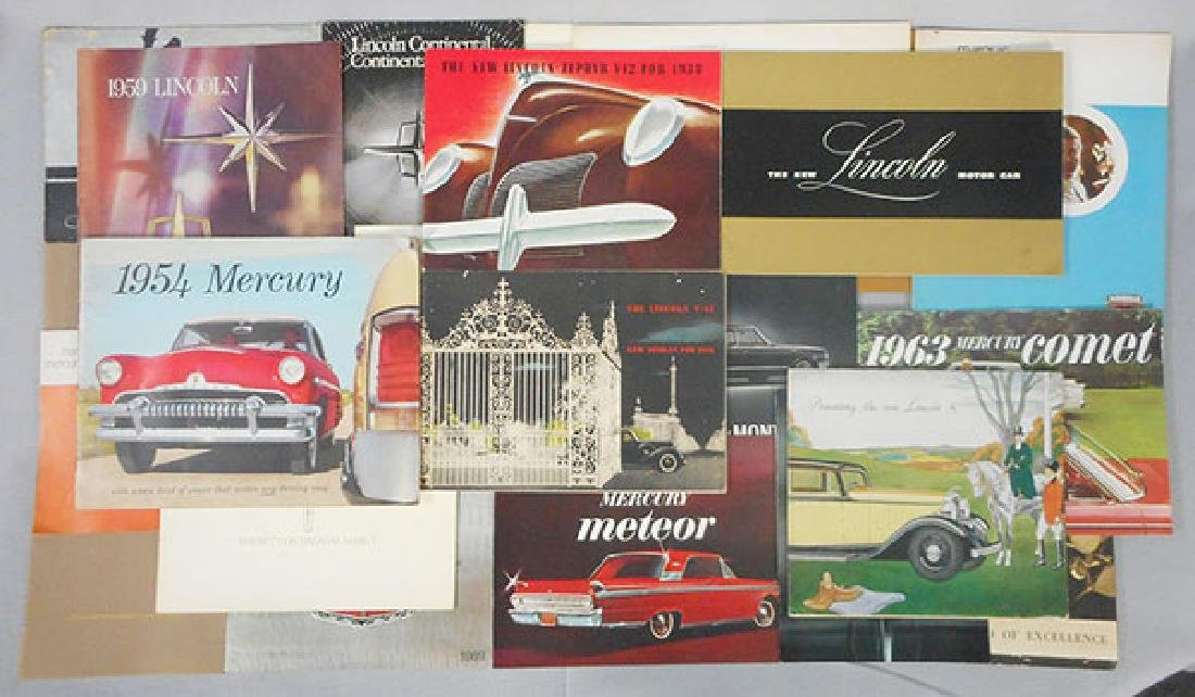 13 LINCOLN & MERCURY CAR BROCHURES