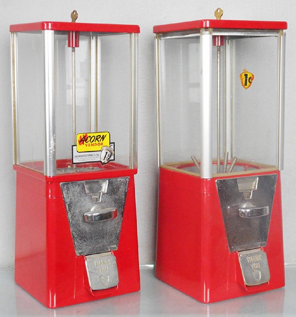 2 ACORN 1¢ VENDING MACHINES