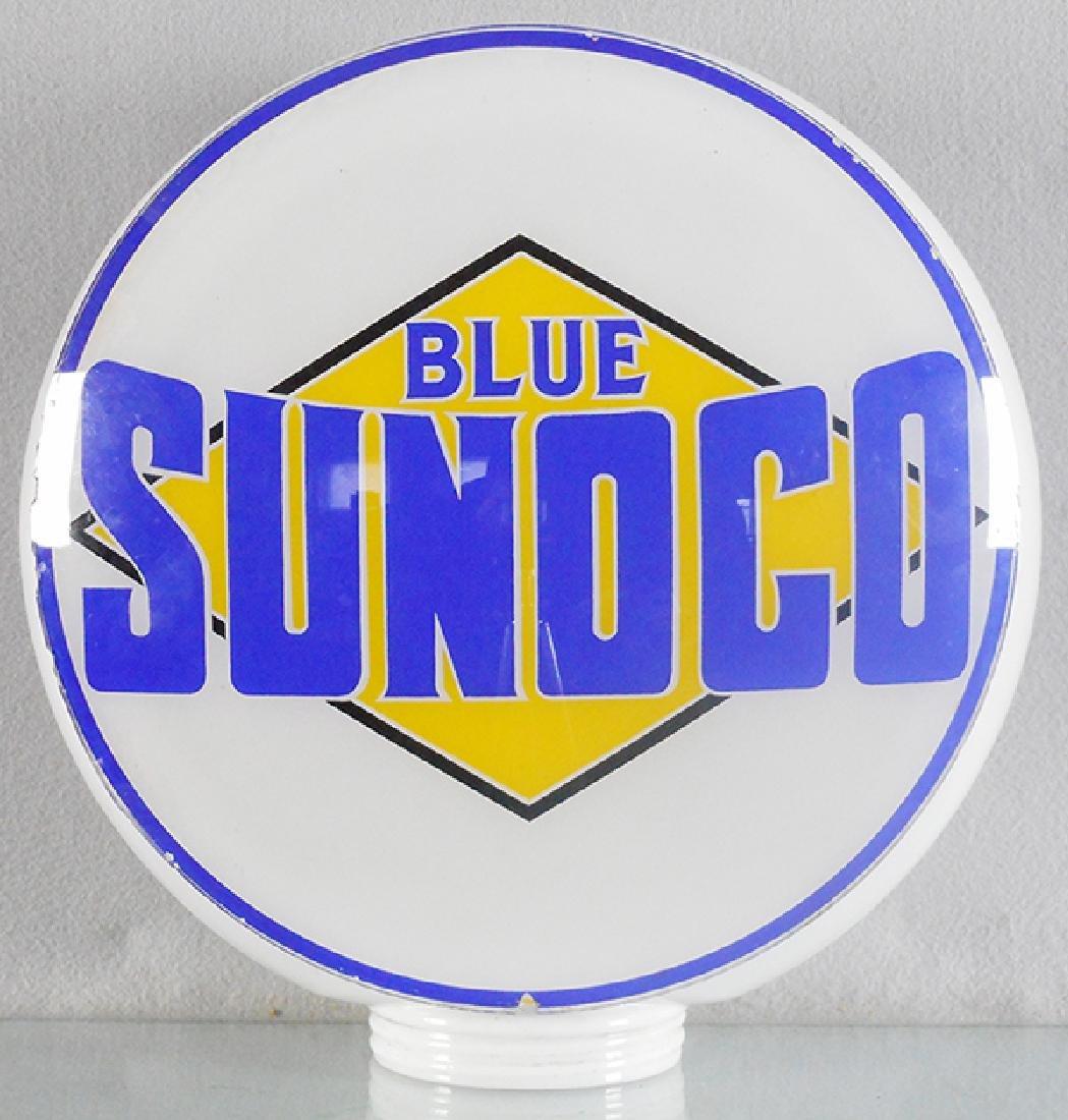 BLUE SUNOCO GASOLINE GLOBE
