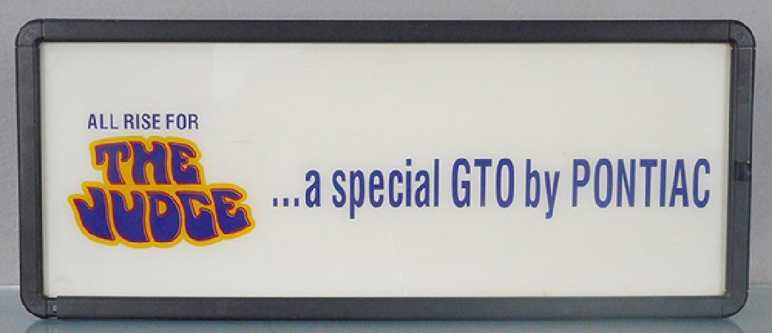 PONTIAC GTO JUDGE DEALER SIGN