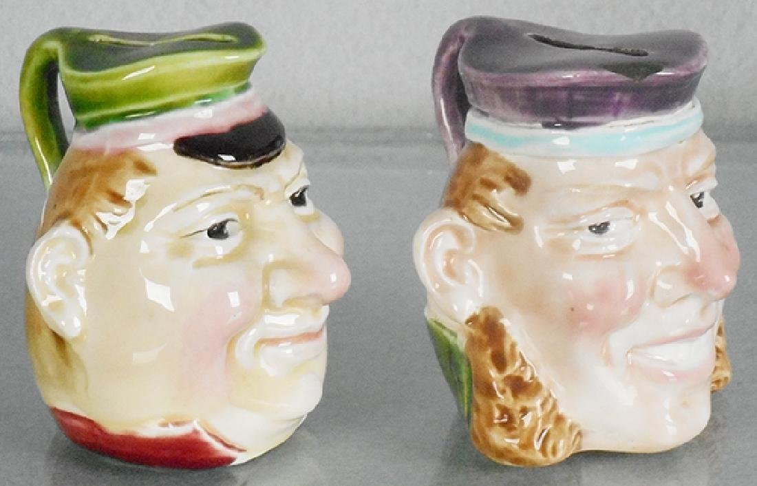 2 PORTRAIT BUST BANKS