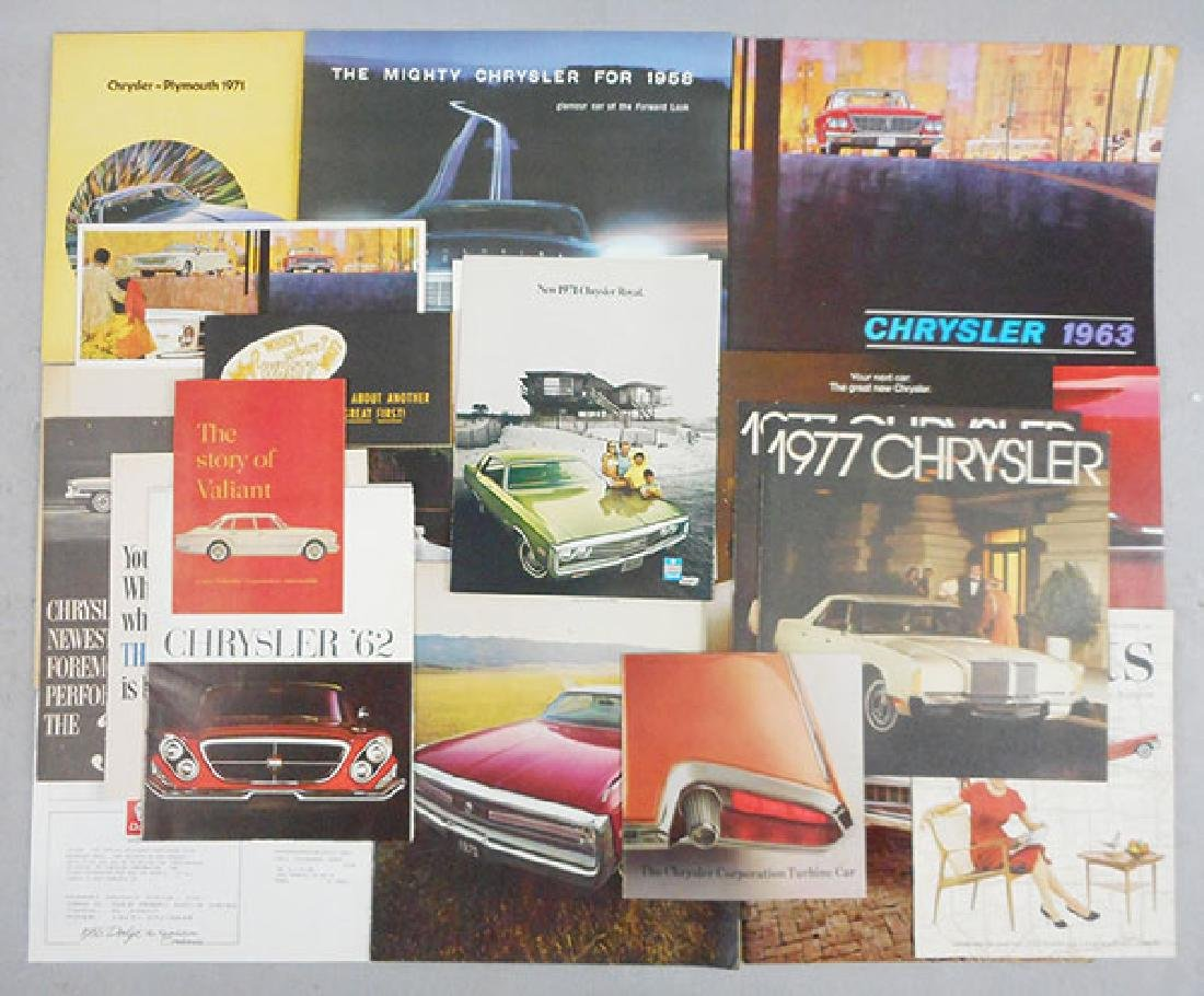 23 CHRYSLER BROCHURES