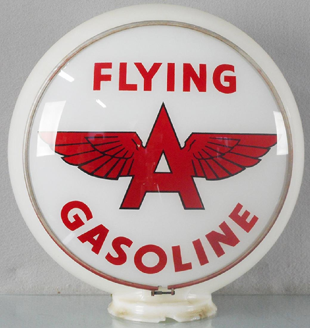 FLYING A GASOLINE GLOBE