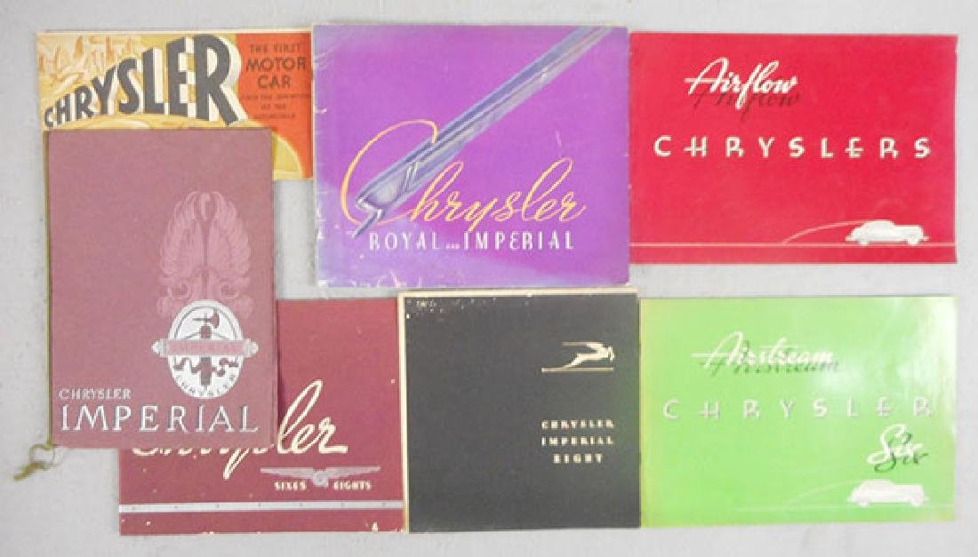 6 CHRYSLER BROCHURES