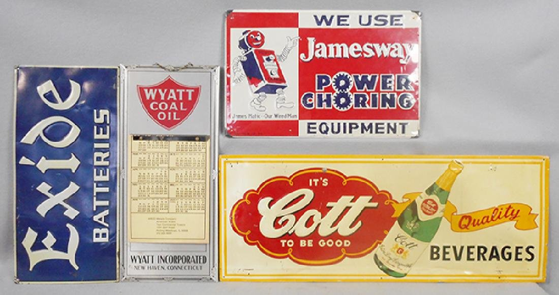 4 ADVERTISING SIGNS