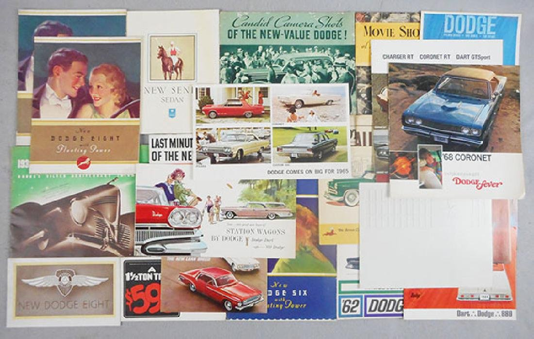 27 DODGE CAR BROCHURES