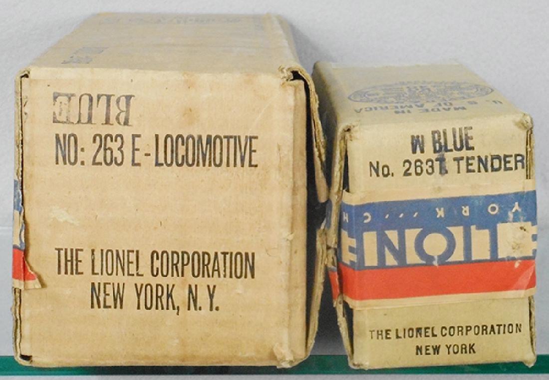 LIONEL BLUE COMET BOXES
