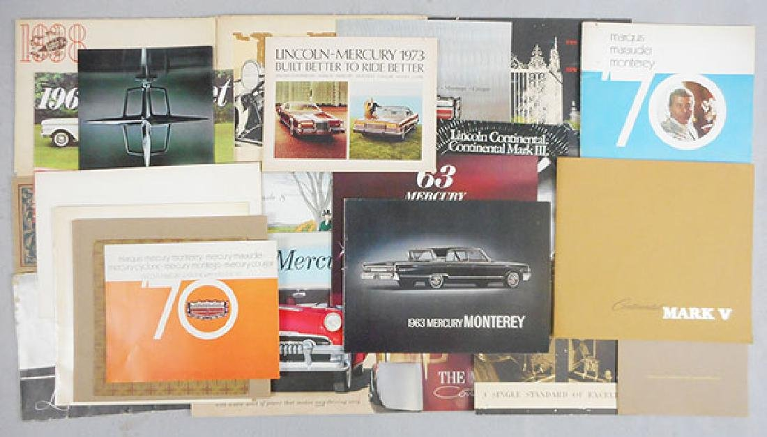 67 FORD CAR BROCHURES