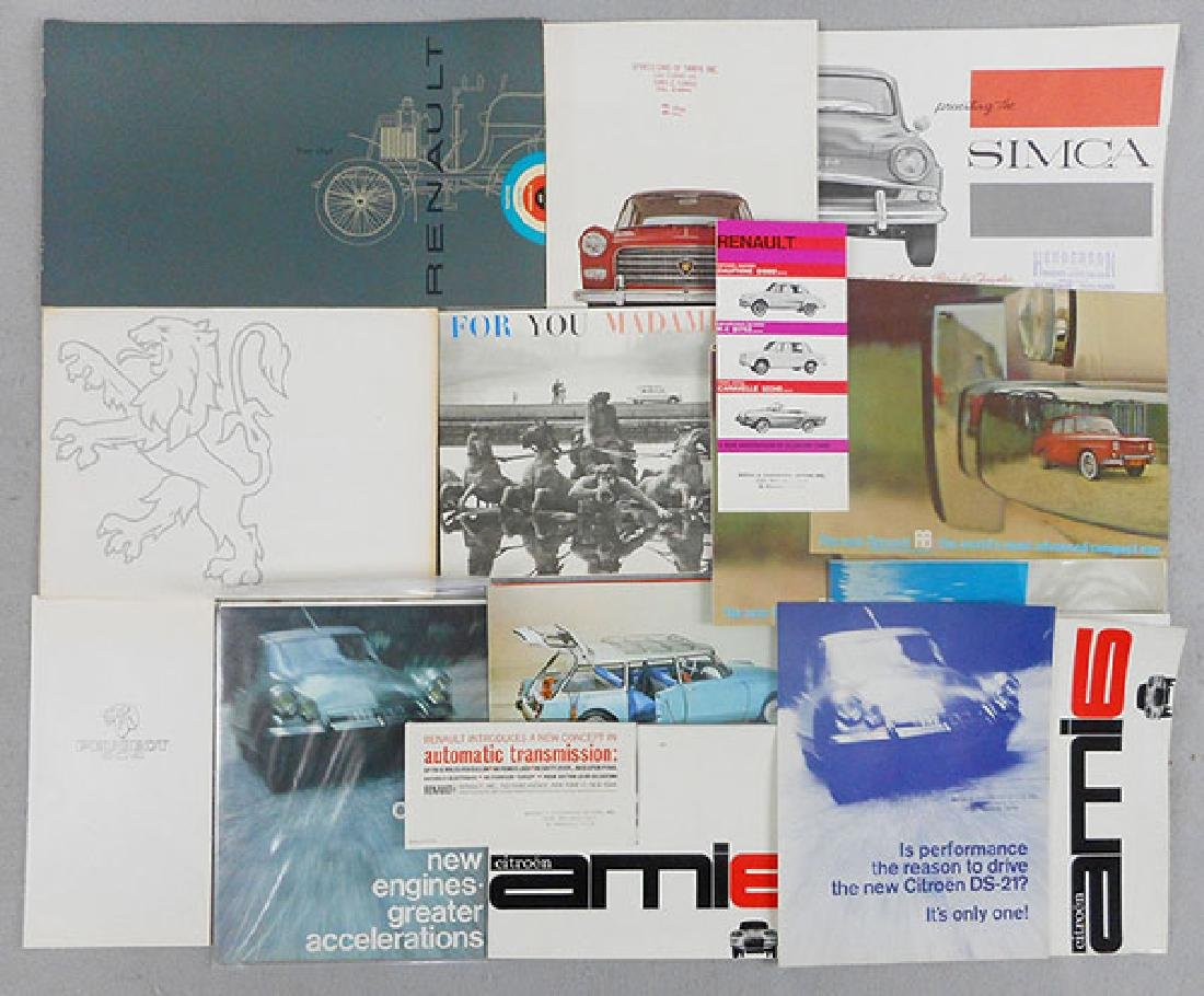 19 FRENCH CAR BROCHURES