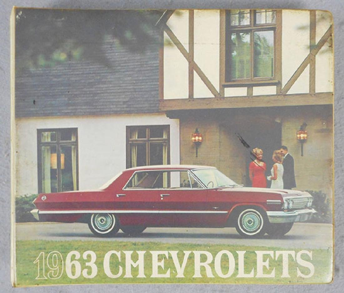 1963 CHEVROLET DEALER BOOK