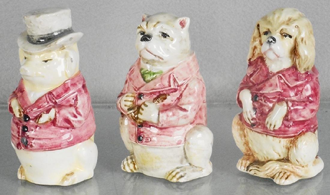 3 DRESSED ANIMAL BANKS