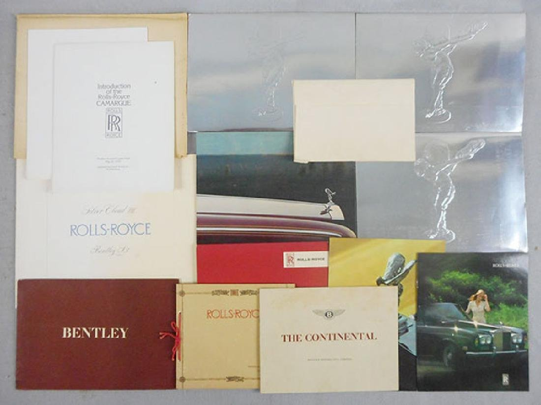 15 ROLLS ROYCE & BENTLEY CAR BROCHURES