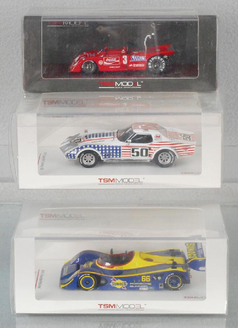 3 TSM SCALE MODEL RACERS