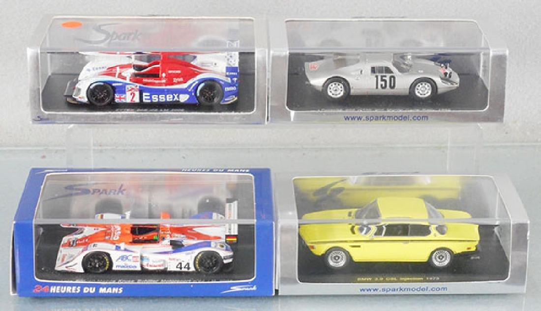 4 SPARK MODEL CARS