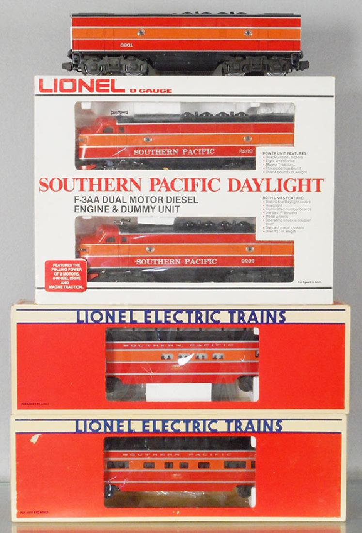 LIONEL SOUTHERN PACIFIC DAYLIGHT TRAIN SET
