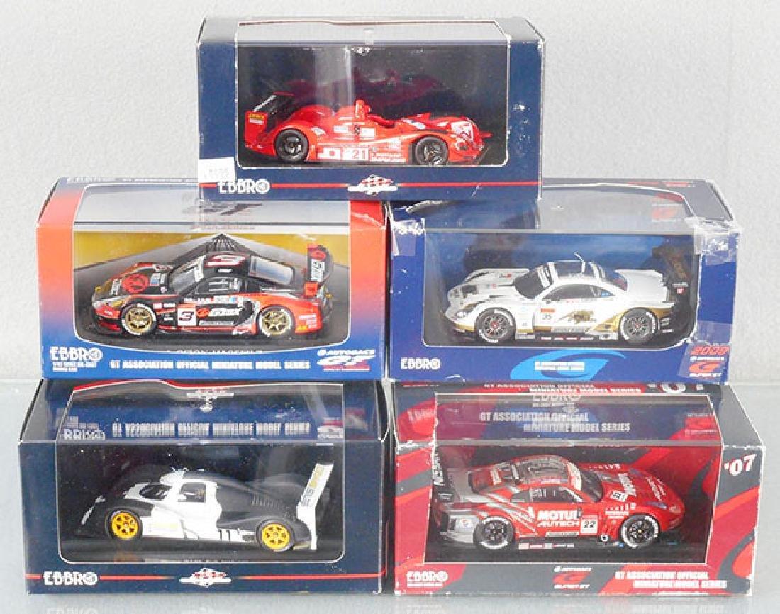 5 EBBRO SCALE MODEL RACERS