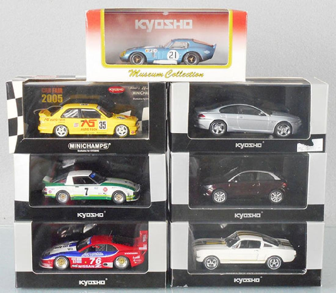 7 KYOSHO MODEL RACE CARS