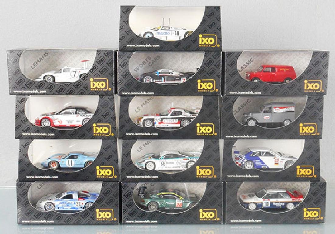 13 IXO MODEL VEHICLES