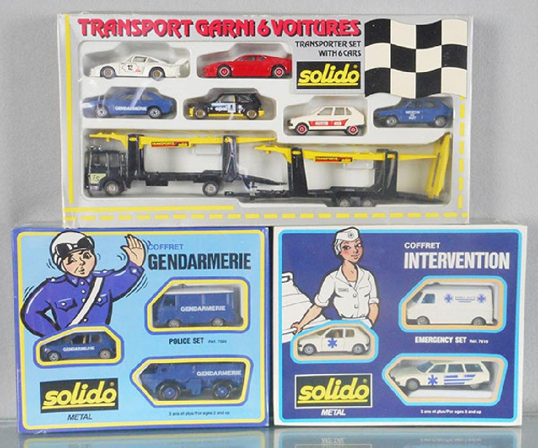3 SOLIDO CAR SETS