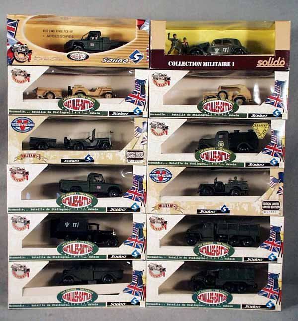 3: 12 SOLIDO MILITARY VEHICLES