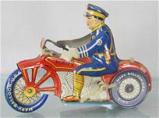 MARX POLICE MOTORCYCLE