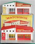 2 MATCHBOX FIRE STATIONS