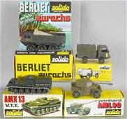 3 SOLIDO MILITARY VEHICLES