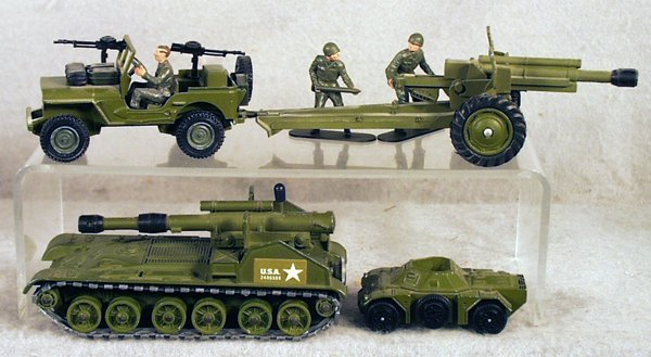 21: 4 DINKY MILITARY VEHICLES