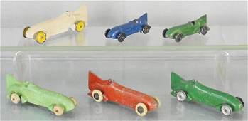 6 TOOTSIETOY BLUEBIRD RACERS