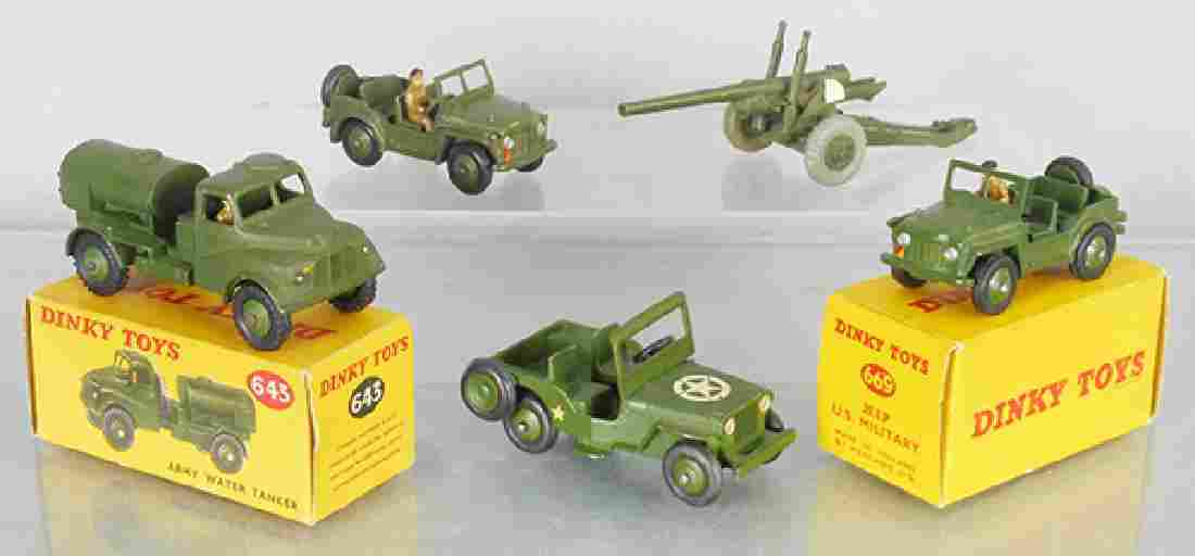 5 DINKY MILITARY VEHICLES
