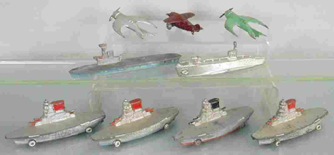 9 DIMESTORE SHIPS & AIRPLANES
