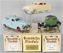 3 BROOKLIN MODEL VEHICLES