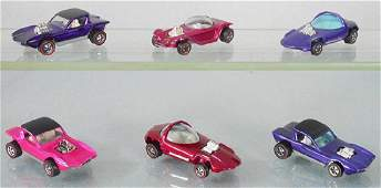 6 HOT WHEELS RED LINES