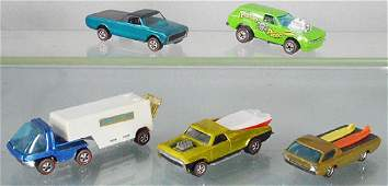 5 HOT WHEELS RED LINES