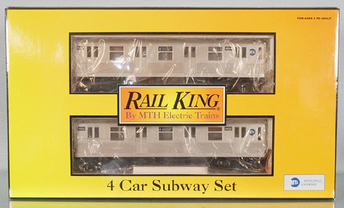 MTH 30-2162-0 MTA 4-CAR SUBWAY SET