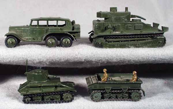 3: 4 DINKY ARMY VEHICLES