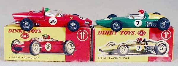 4: 2 DINKY RACING CARS