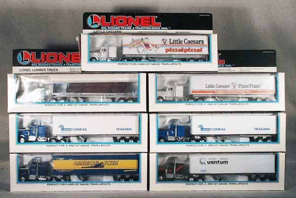 004A: 7 LIONEL MPC TRACTOR TRAILER SETS