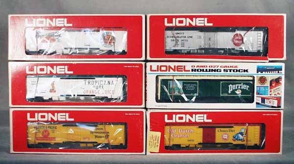 006A: 6 LIONEL ADVERTISING REEFERS