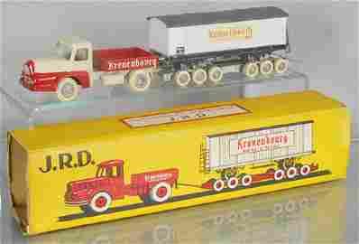 J.R.D. 123 UNIC TRACTOR & KRONENBERG TRAILER