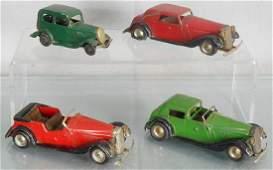 4 MINIC AUTOS