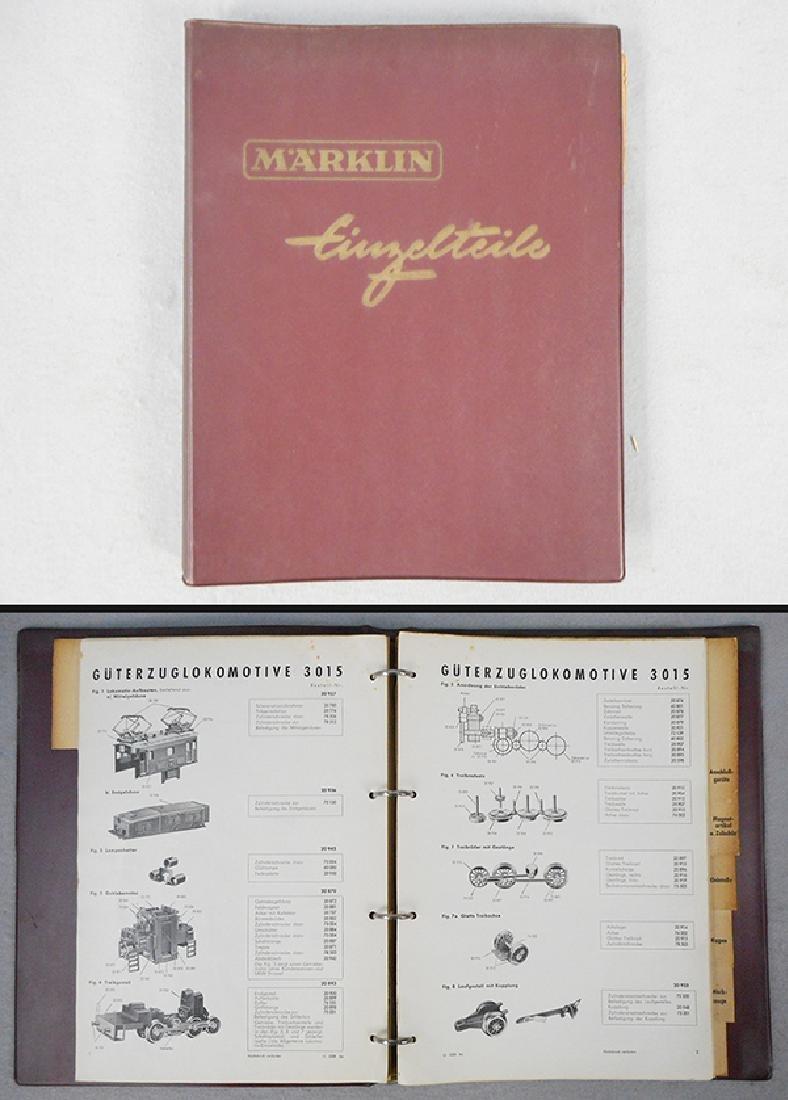 MARKLIN 1953 HO PARTS MANUAL