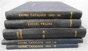 BOUND LIONEL CATALOGS