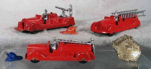 7: TOOTSIETOY FIRE DEPT LOT
