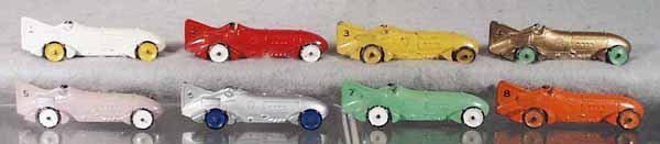 24: TOOTSIETOY SET OF 8 #4666 BLUEBIRD RACERS