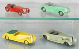 4 DINKY AUTOS